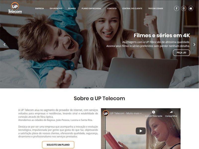Site da UP Telecom