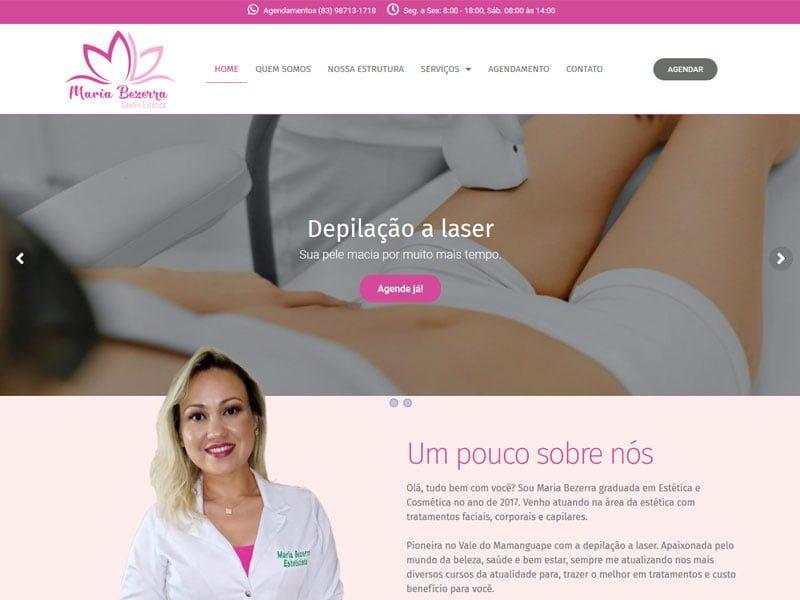 Site Maria Bezerra Itapororoca Estético