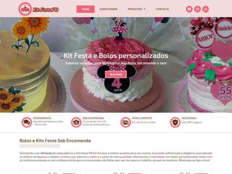 Kit festa PB sites PB João Pessoa