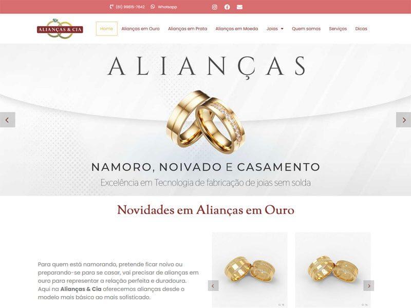 Novo site Alianças e Cia