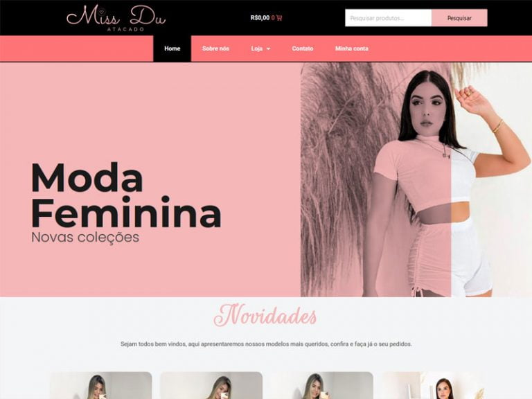 Loja virtual Miss Du Atacado